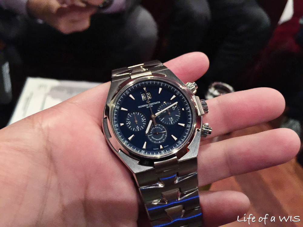 The blue dial on this Vacheron Constantin Overseas is stunning!