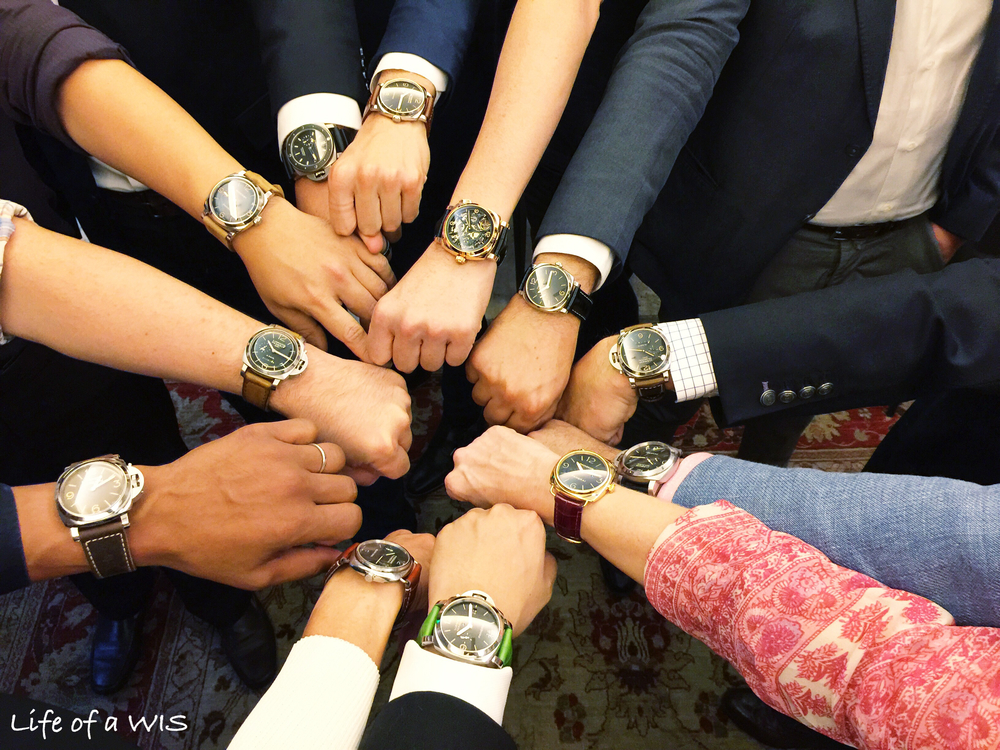 No watch event is complete without the mandatory group wrist shot!