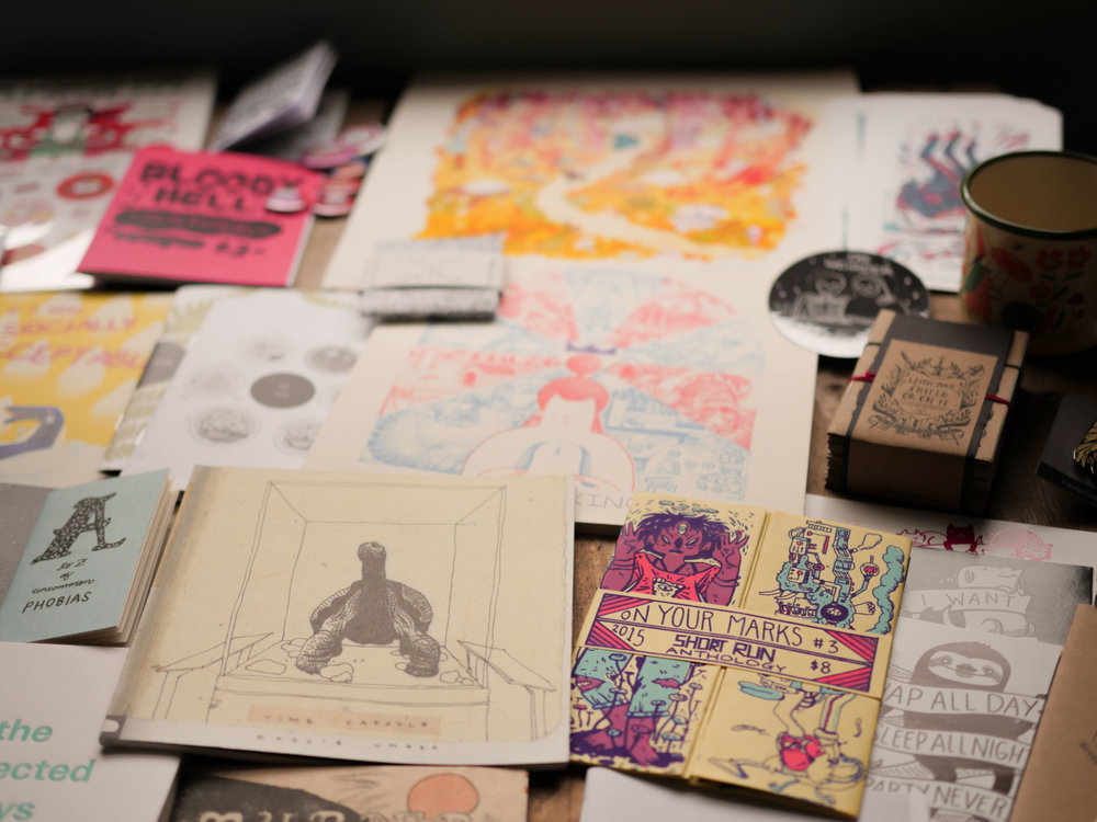 I also have a zine addiction. - It's not really a problem when it's for professional interest...right??