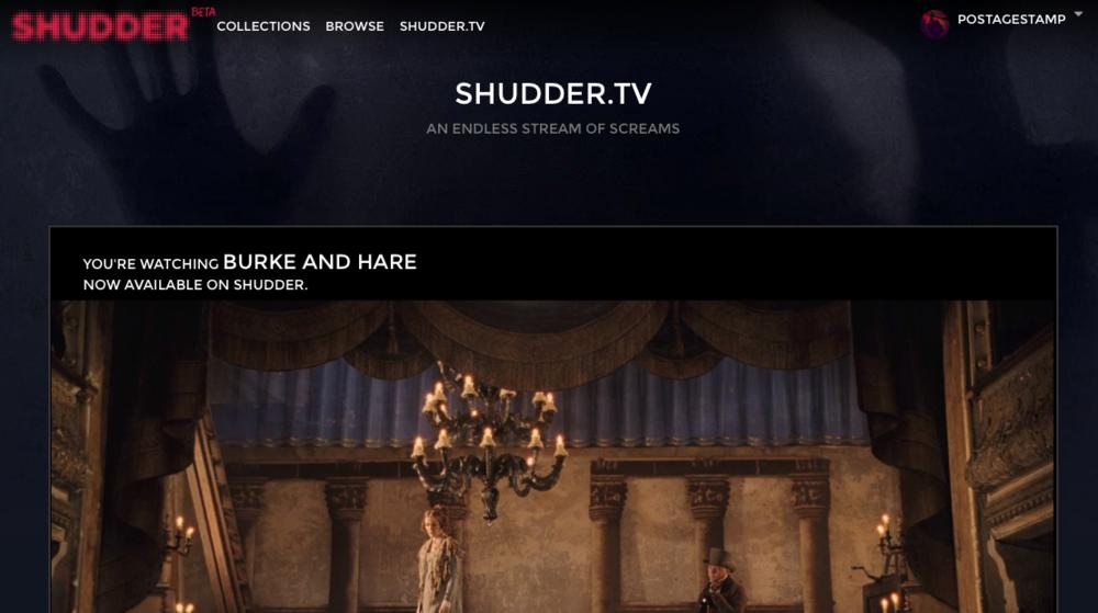 Shudder.TV - live, constant horror movie streaming.