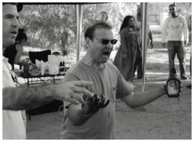 Co-Directors Phil Guidry (left) and Simon Herbert (right) on set