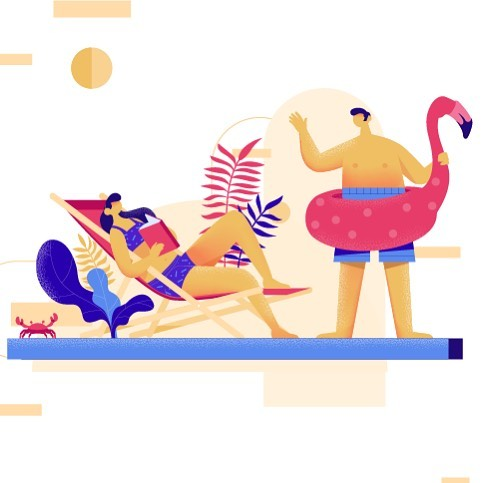 One of five beautifulI images created by our very talented illustrator for a new sms platform. #adobeillustrator #vector #summerfun #behance #webdesign #2danimation #motionstory #designoffice #goldcoastbusiness