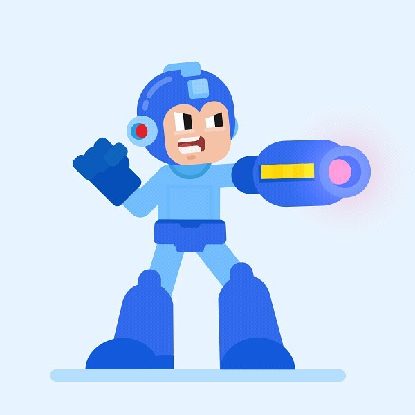 #MondayBlues? or #MotivationalMonday? It doesn't matter now because ourselves and @johntrivelli  got creative and put some life into this guy! . Drop a comment below if you remember this fella! 👇  #2danimation #characterdesign #perfectloop #Adobeillustrator #illustration #megaman