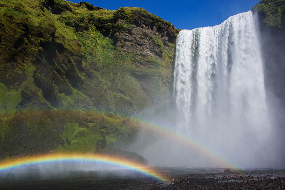 Skogafoss with a Double Rainbow