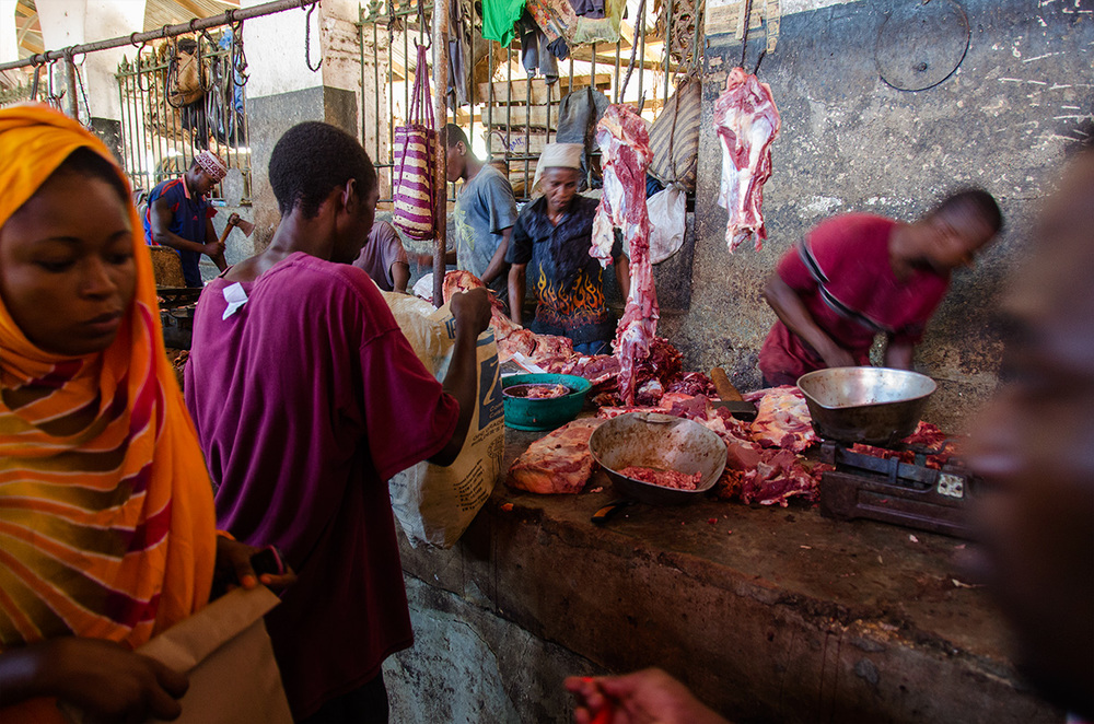 Meat market, Stone Town