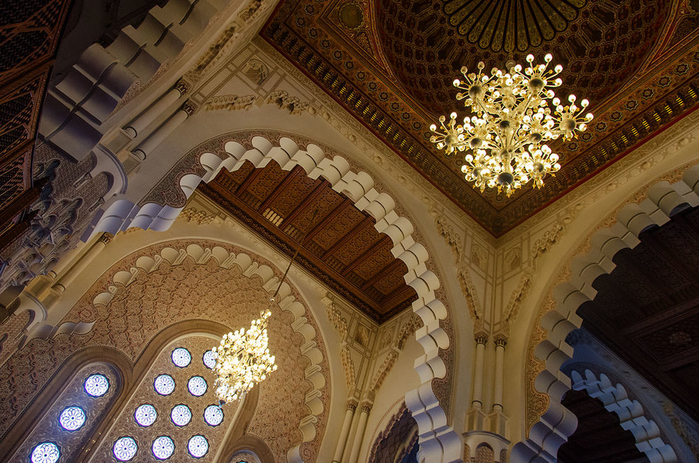 Ceiling of the Hassein II Mosque, Casablanca
