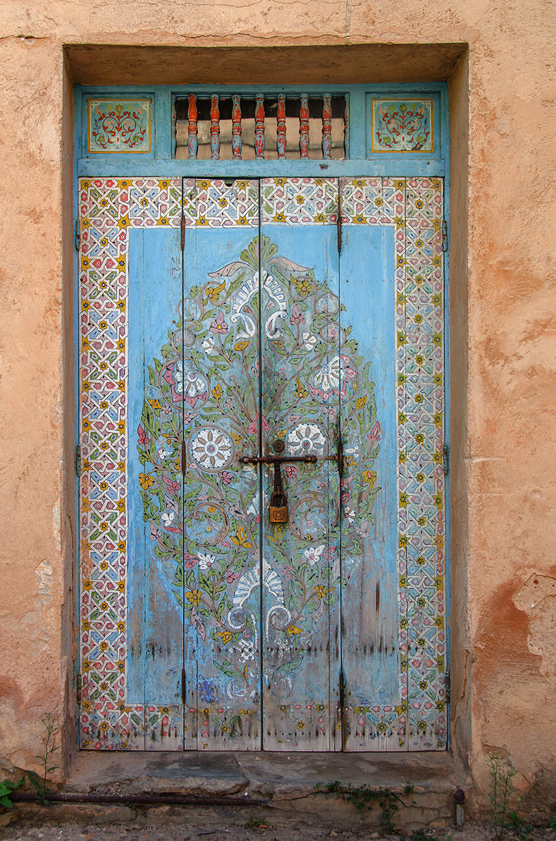 Painted Door, the Andalusion Gardens, Rabat