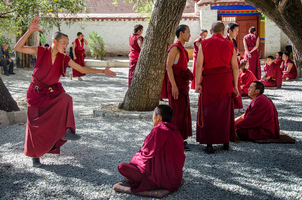 Student monks debate at the Sera Monastery
