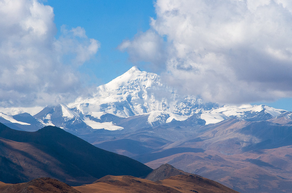 Nindingdzonka, one of the tallest mountains in Tibet