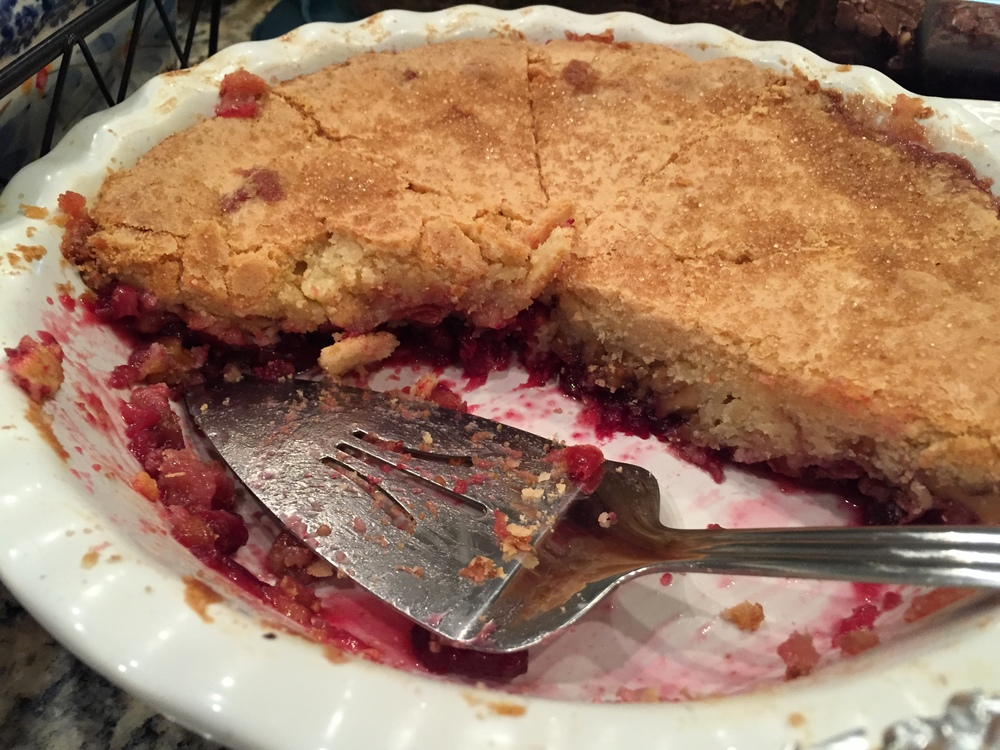 Cranberry pie. What can I say? This was the highlight of my plate. Cal made it. Maybe I'll ask him to marry me.