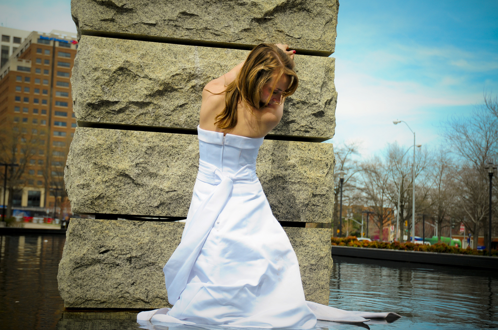 trash the dress shoot