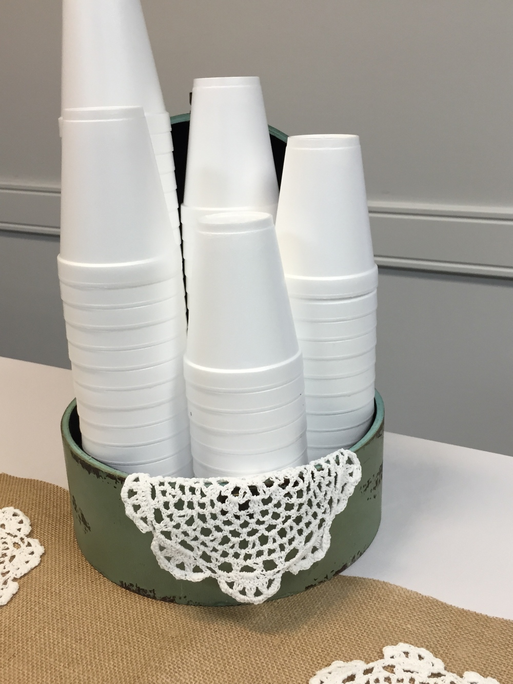 Dressing up Styrofoam cups 101.