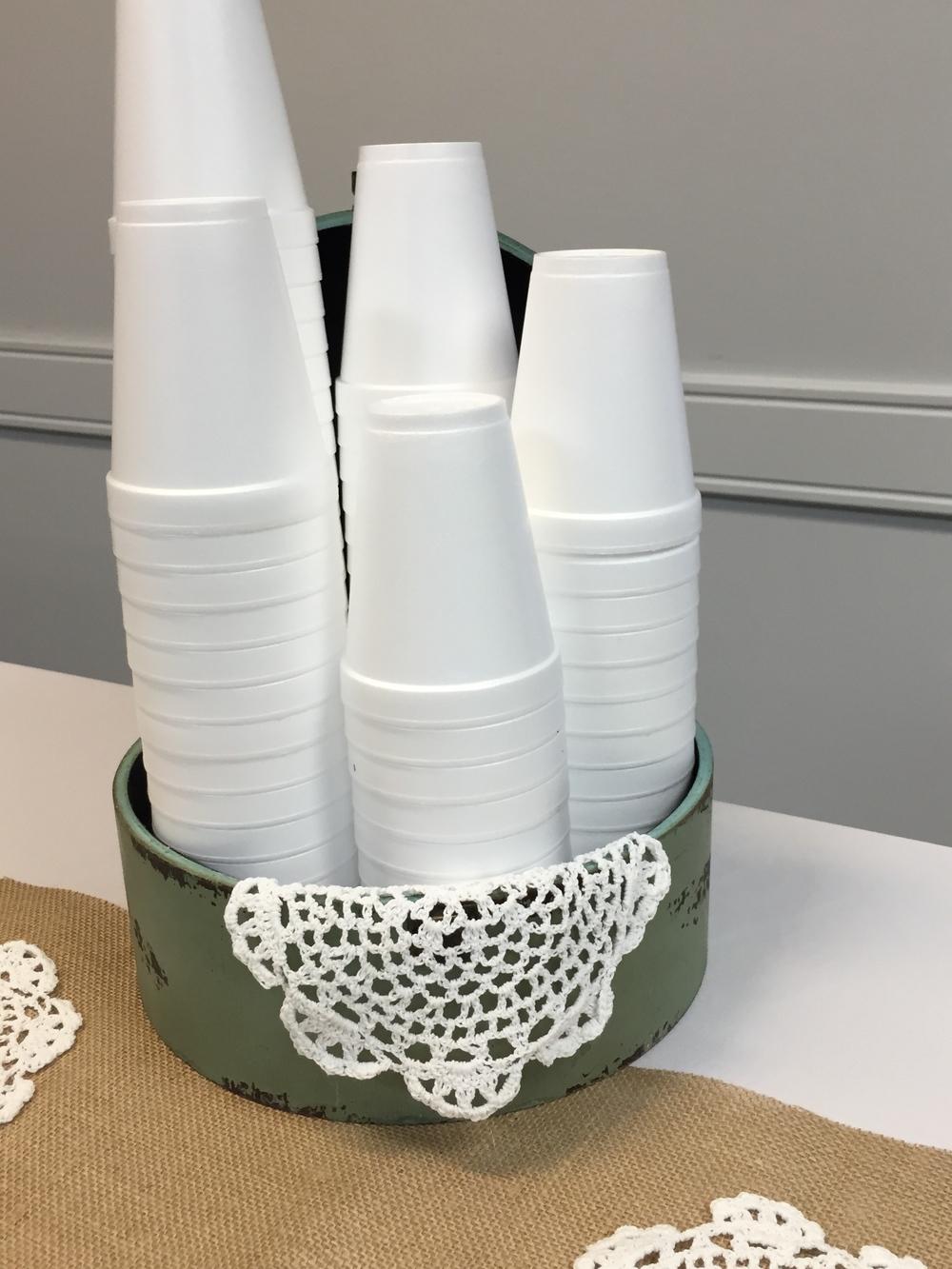 Dressing up Styrofoam cups 101.