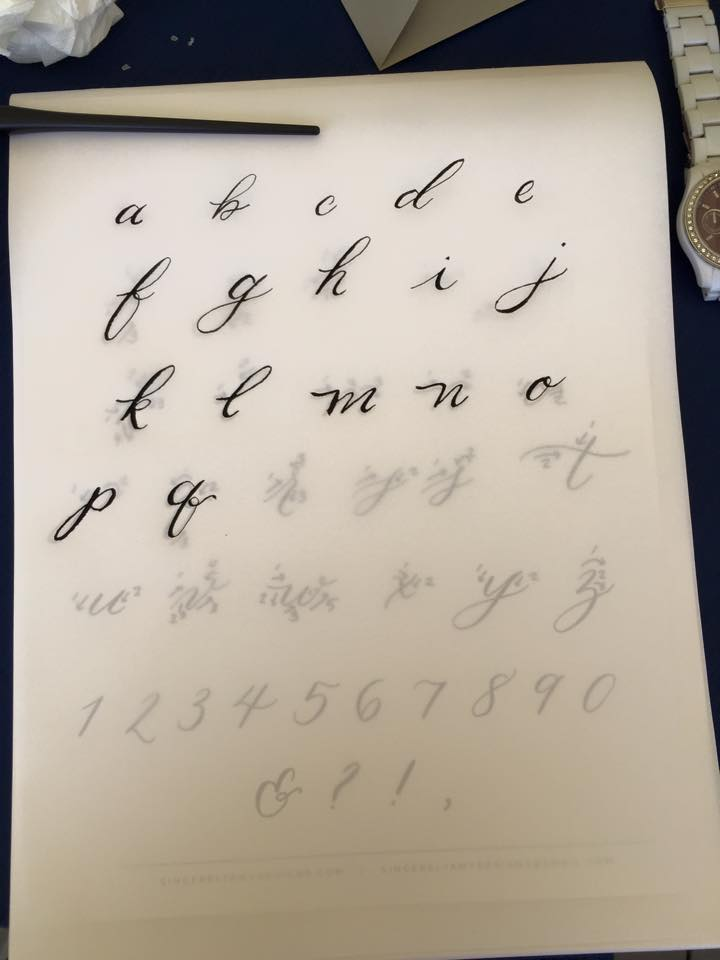 This is my practice sheet of lowercase letters. Not too bad!