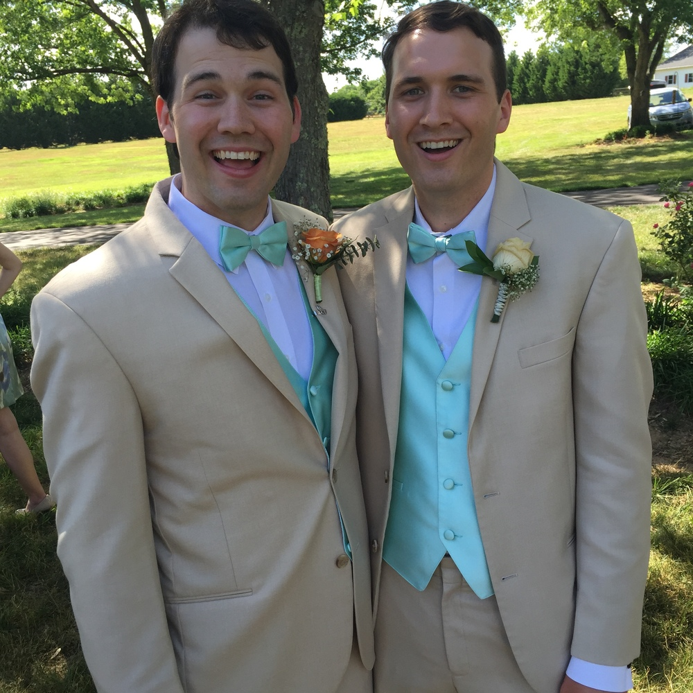 Josh and Cal, his best man. Best looking best man I know!!