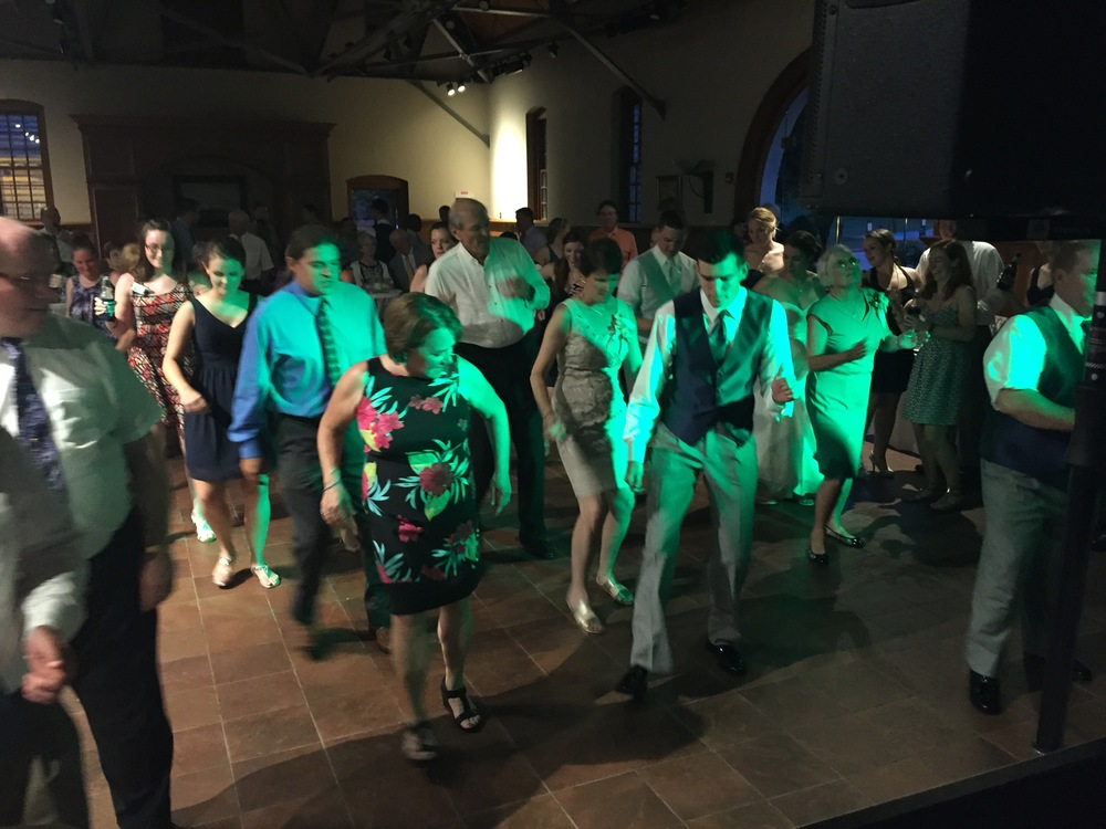 This shot was from the Fox family dance. Grandpa (right in the middle) taught his kids and grandkids this dance. Apparently, they do it every time they get together. This was one of my favorite moments of the night!