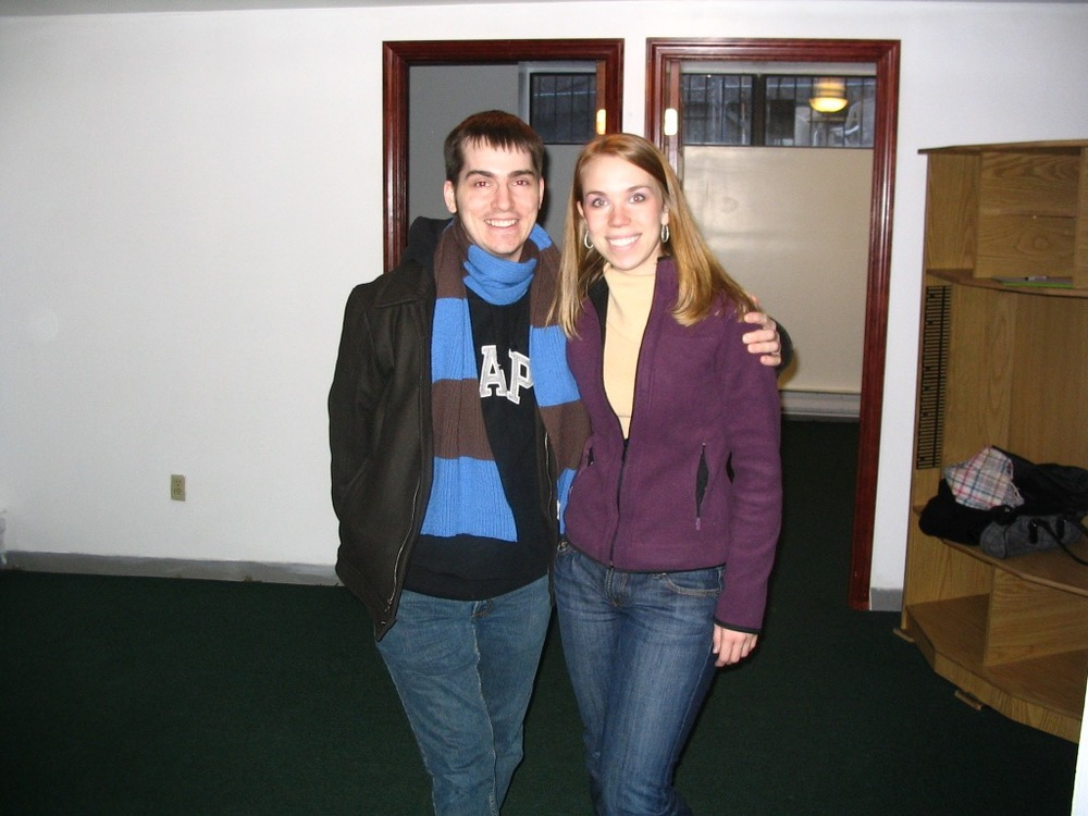 Mike and I on move in day. New York, 2007. It was 19 degrees outside.