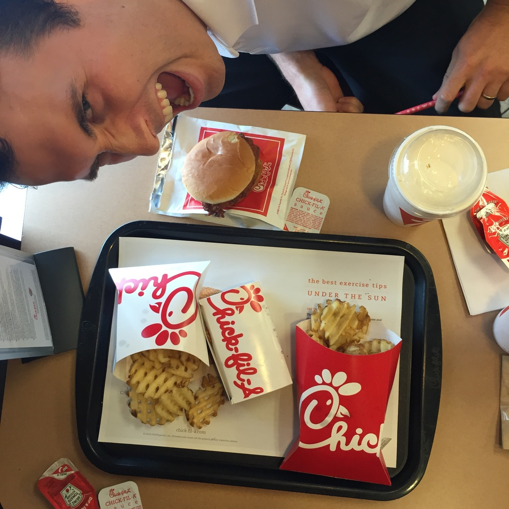 Cal and I had a celebratory lunch at Chickfila after closing. We're so fancy...