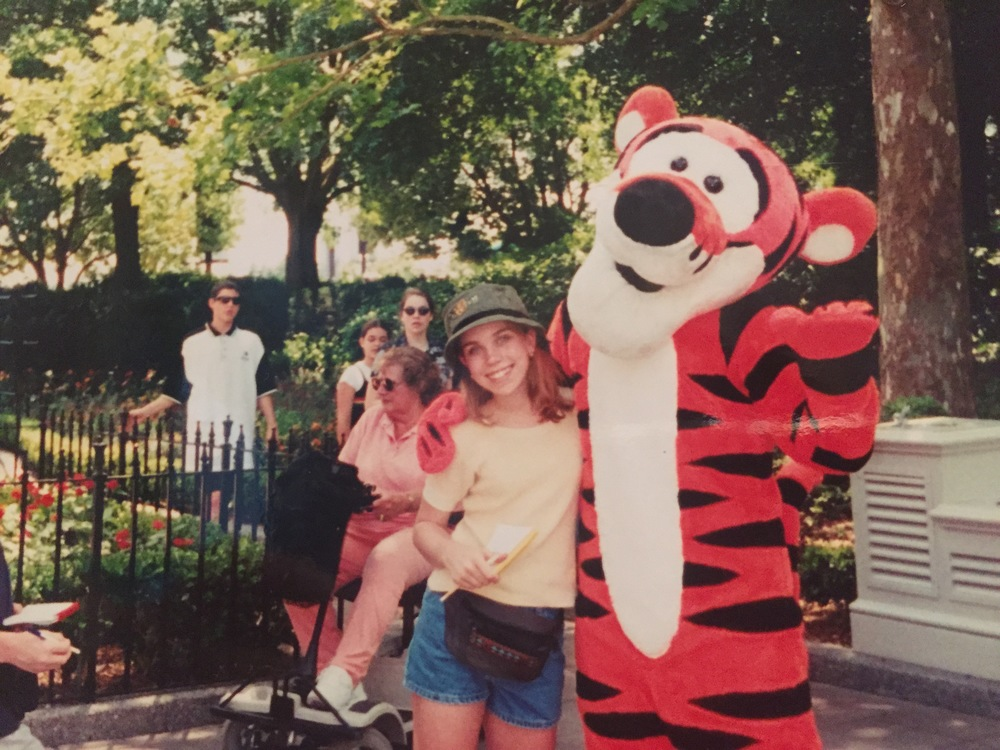 1998. My Tigger obsession was real. So was my fanny pack.