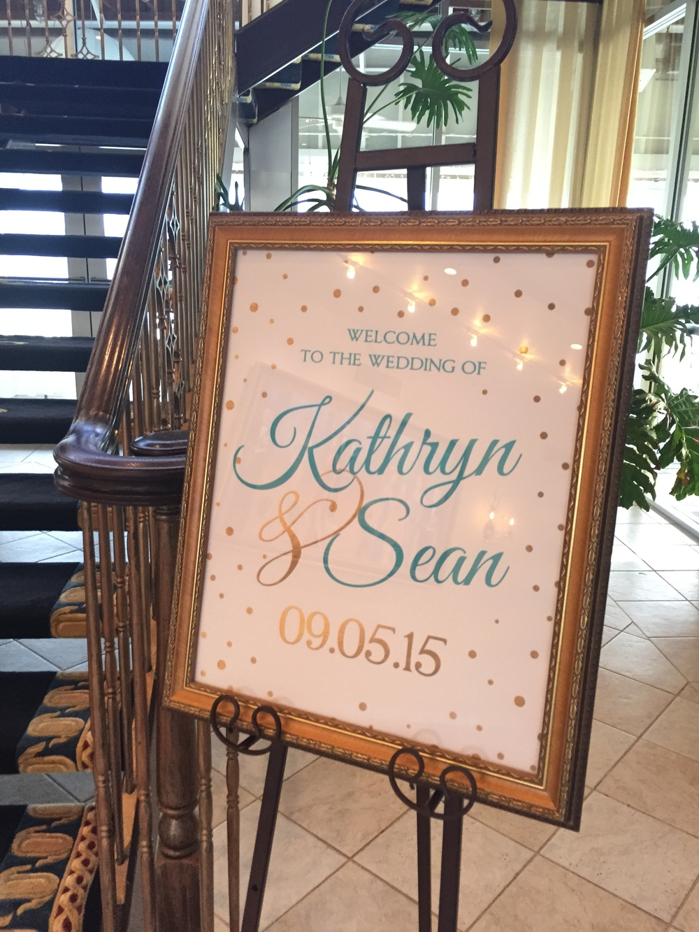 lesner inn wedding welcome sign