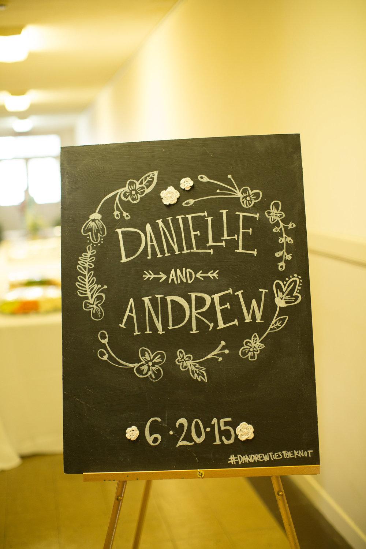 wedding chalkboard