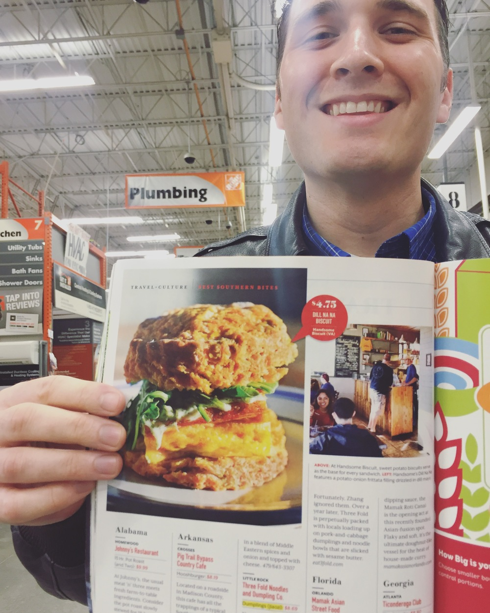 That's our food on the left and Cal is in the shot on the right. PAGE 62!