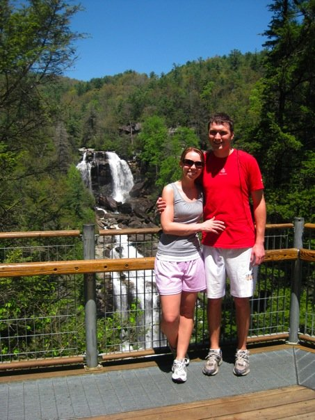 Our honeymoon, April 2009