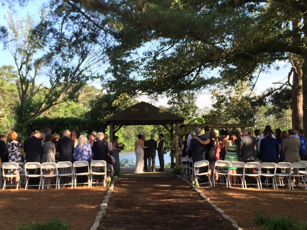 I am SO HAPPY we took a chance on the outdoor ceremony. It was perfect!