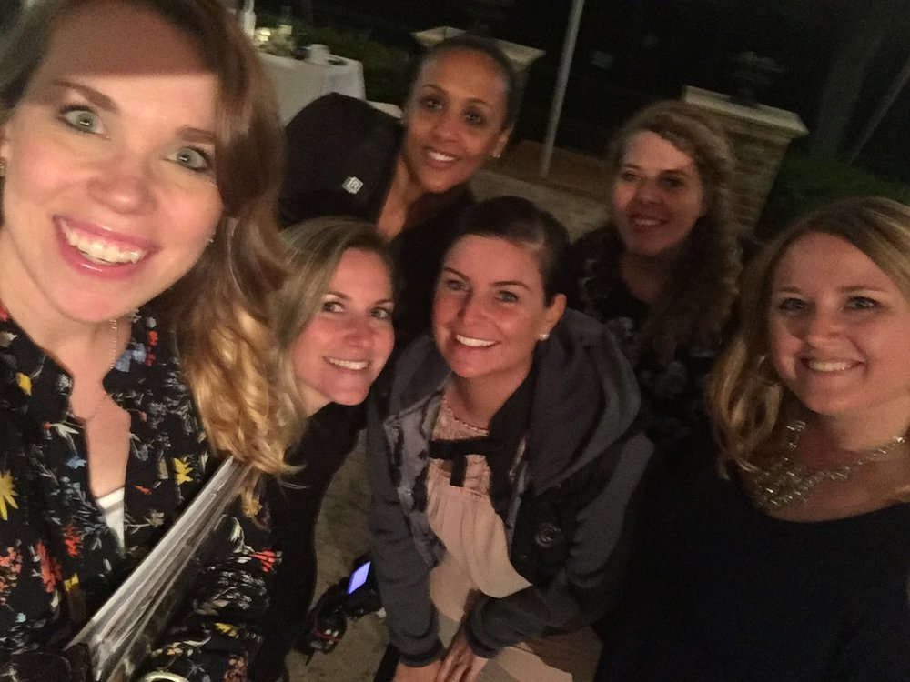 Probably the worst picture of the night, but I just had to capture our stellar dream team! My incredible assistant, Kelsey, Ashley of  Sharon Elizabeth Photography , her beautiful crew, and dj Kat of  KD Productions ! So grateful for them on this day!!