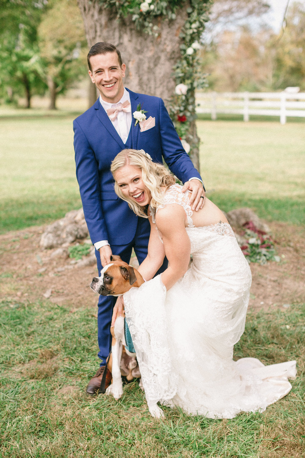 Puppies at weddings. DUH! Cassidy and Mike brought their pup, Colin Farrell, to their celebration. He pretty much stole the show anytime he was able to come out and play.  Photo: We Are The Mitchells