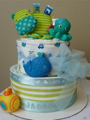 Two Tier Diaper Cake