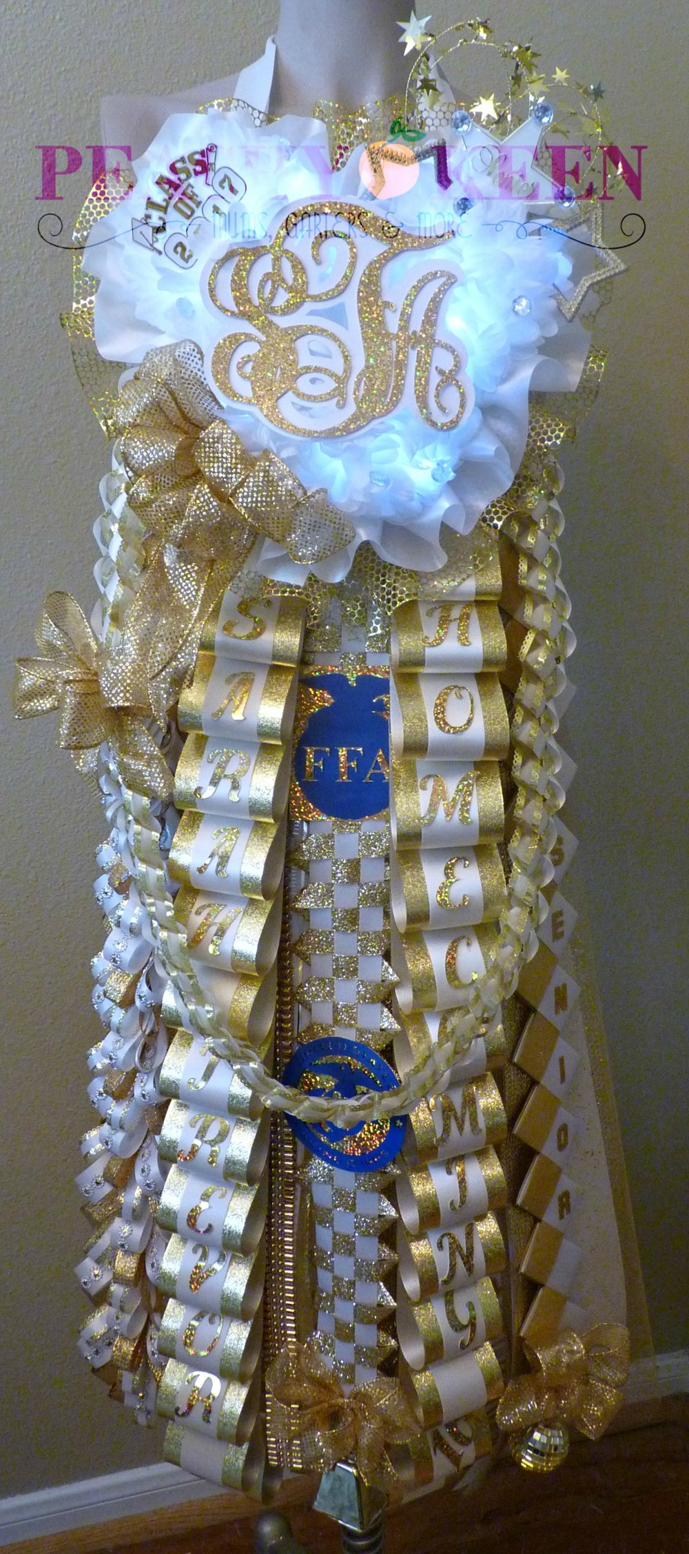 Triple Deluxe Homecoming Mum Klein Collins High School