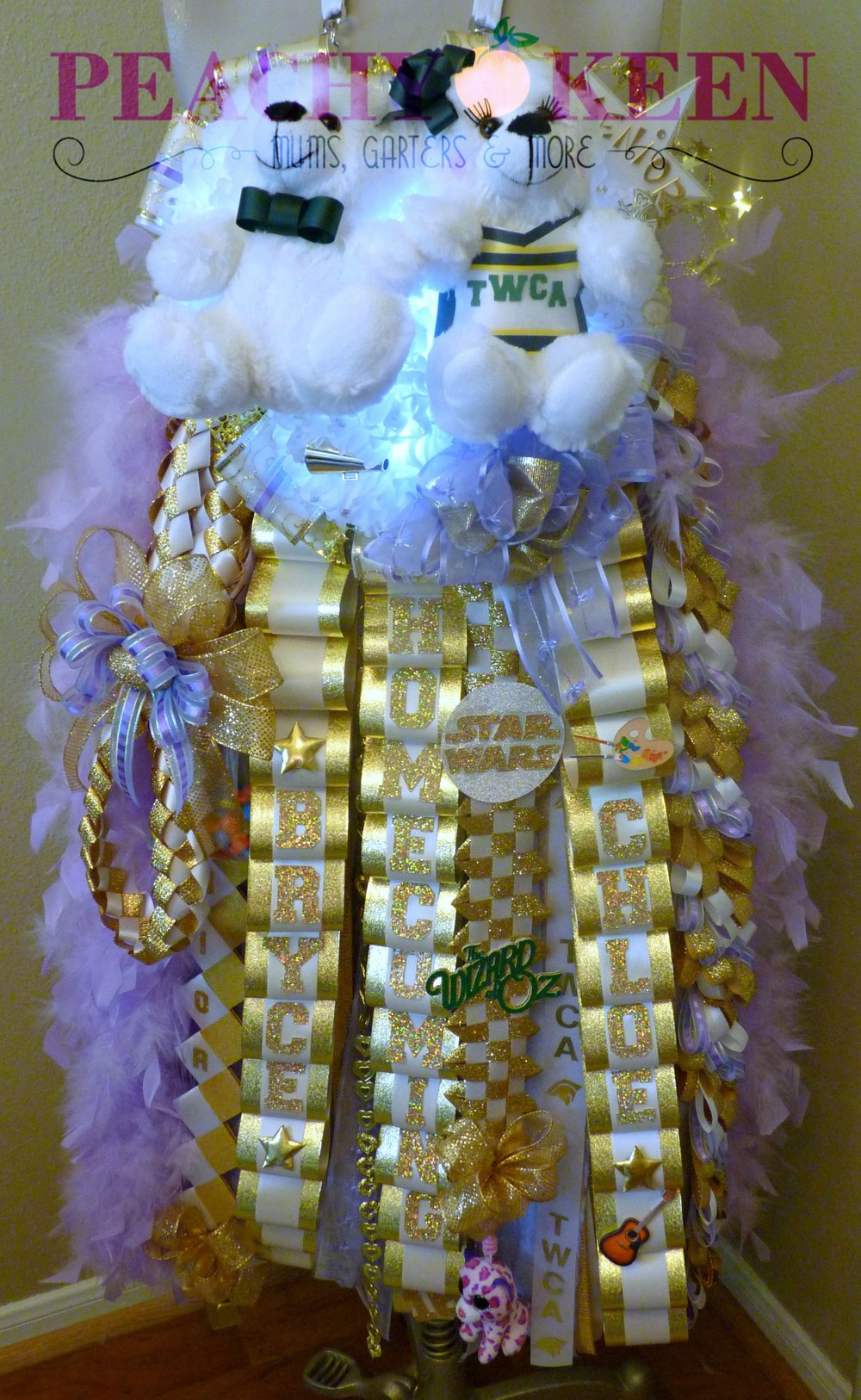 Triple Deluxe Homecoming Mum The Woodlands Christian Academy