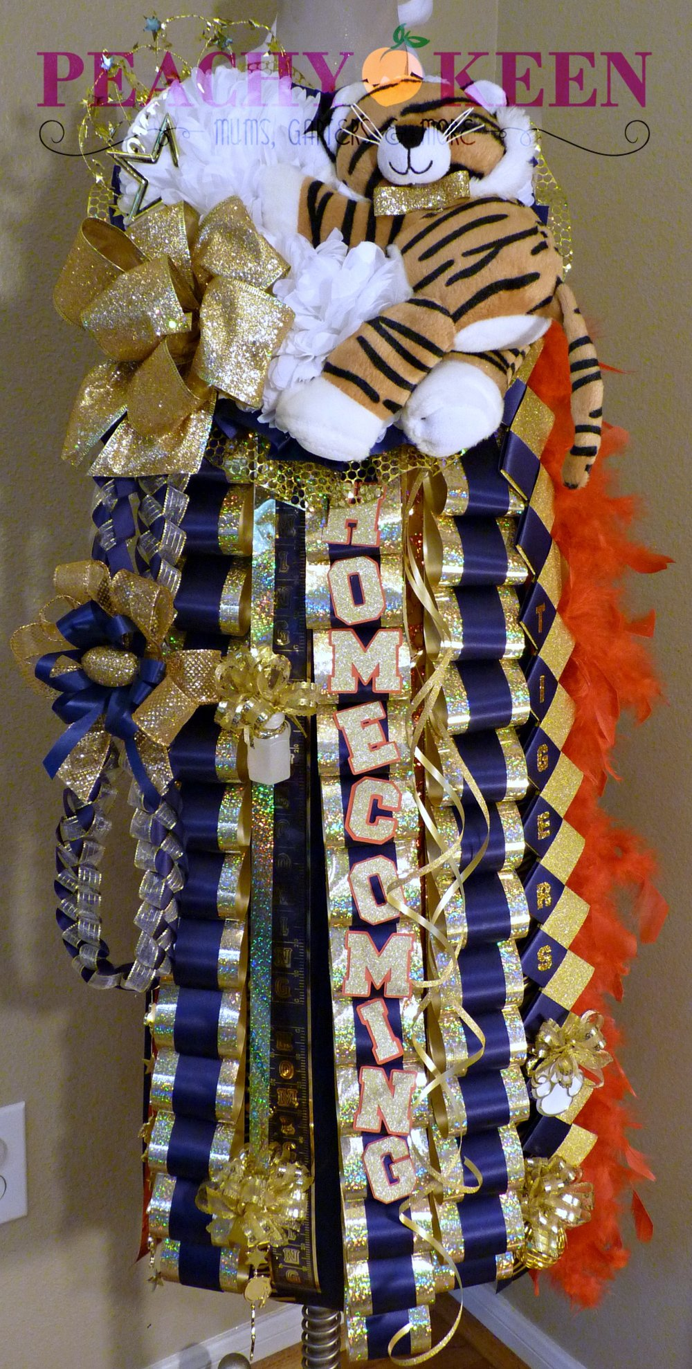 Triple Homecoming Mum Klein Collins High School
