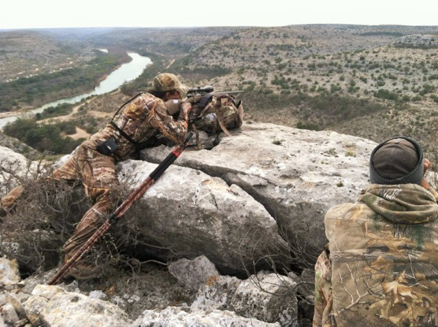 Spotting along the Devil's River for an Aoudad ram!