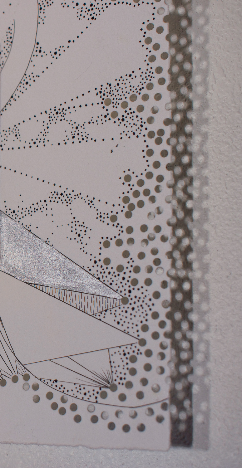 Engraving Drawing detail perforations