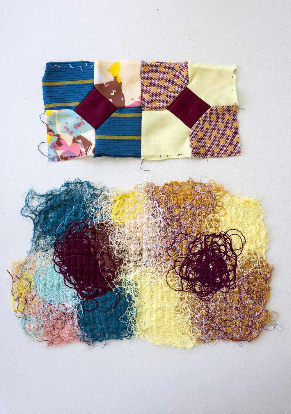 Catherine Reinhart_fiberart_Leisure suit quilt