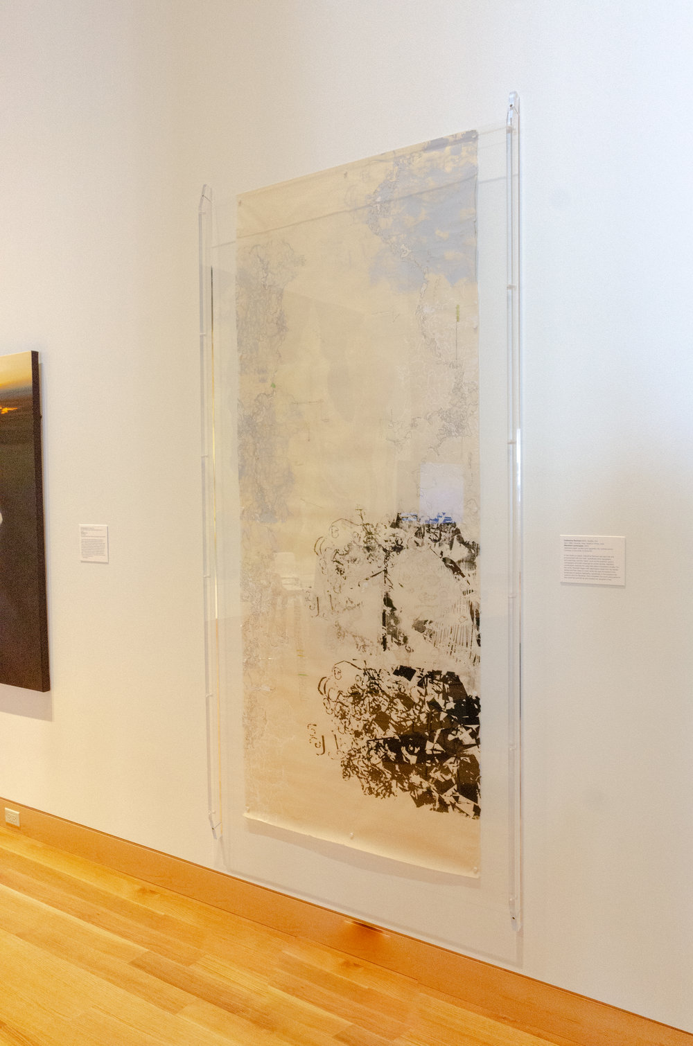 Manifold Landscapes under museum plexi. I have arrived!! :)
