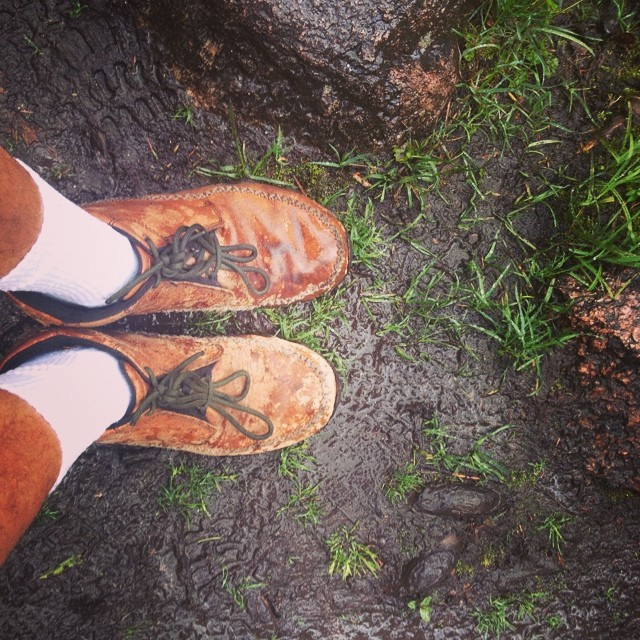 My boots in the mud along my #trailsofdreams !