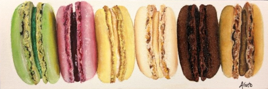 macarons. oil on canvas. 12x4.jpg