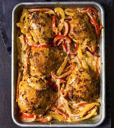 Harissa-Roasted-Chicken