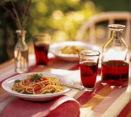 Spaghetti-marinated-Tomatoes