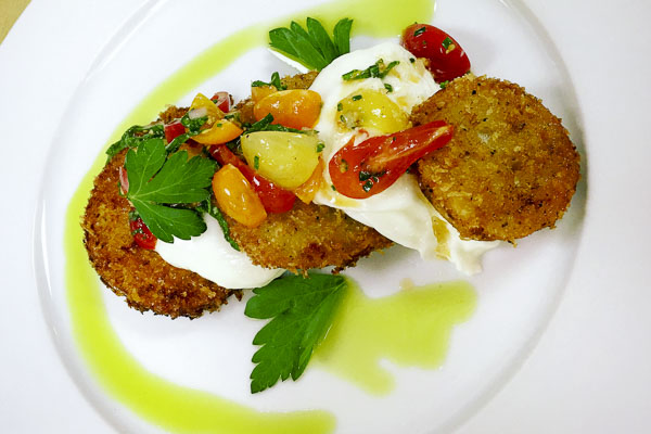 FriedGreenTomatoes&Burrata