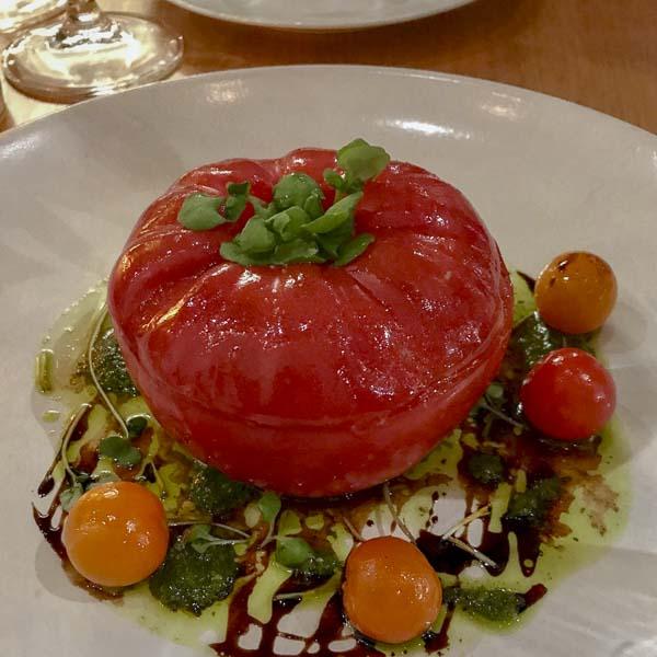 Surprise inside: Della Fattoria tomato salad