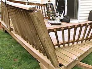 Even ground level decks can lead to injuries if they fail.