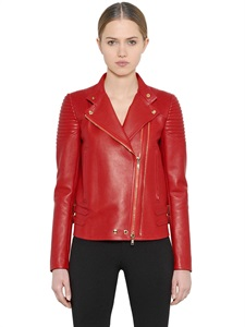 Nappa Leather Moto Jacket via