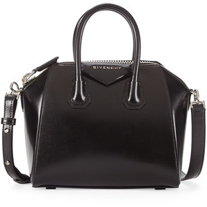 Antigona Mini Leather Satchel Bag  via