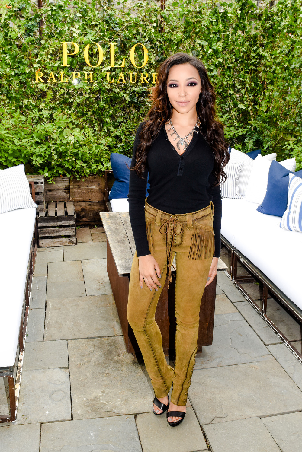 Singer Tinashe at the Spring 2016 POLO Ralph Lauren presentation. Image via Ralph Lauren.