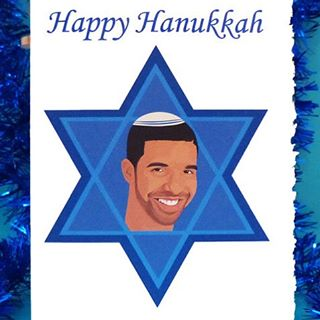 Happy first day of #Hanukkah to all of followers who are celebrating! 🎨 Design by @instagrandmaw #dontdrakeanddrive #mazeltov #tistheseason #collegelivingmag #etsyshop #drizzy #festivaloflights
