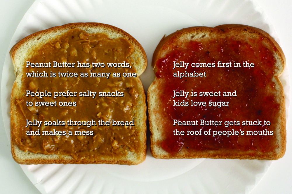 Peanut Butter & Jelly OR Jelly & Peanut Butter